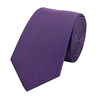 Slips slipsar bindemedel bred 6CM violett svart pläd Fabio Farini