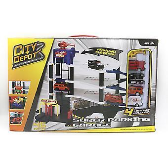 Depot de la ciudad Super garaje con 4 vehículos Playset