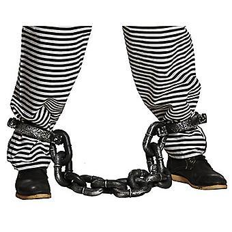 Sträfling Fußfessel Kette Gefangener Accessoire Karneval Fasching JGA