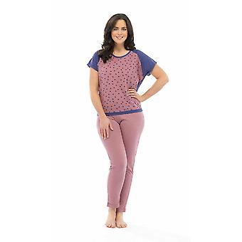 Ladies Tom Franks Star Print Polycotton Long Pyjama pajama Lounge Wear