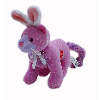Soft Spots Sparkle Pet with Bunny Ears, Pink Cat