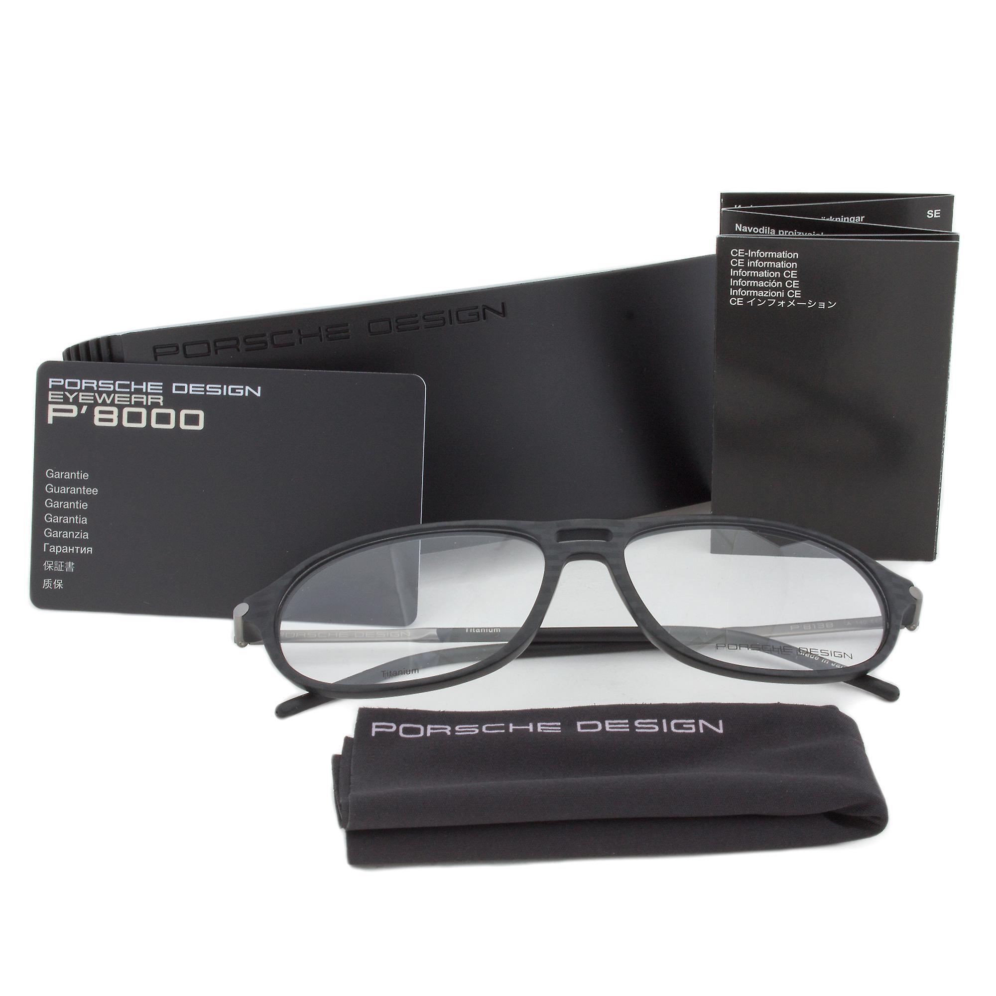 Porsche Design P8138 A Oval | Dark Grey| Eyeglass Frames