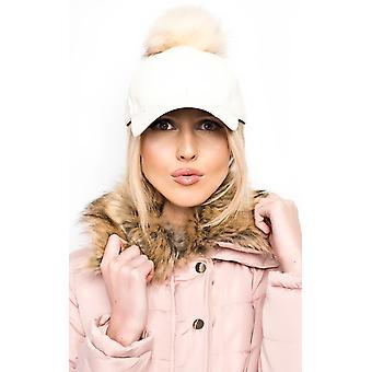 IKRUSH Womens Riley Pompom Leather Hat