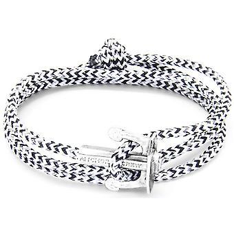 Якорь и экипажа союз серебро и веревки браслет - белый черный