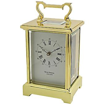 David Peterson Grande Anglais 8 Day Mechanical Carriage Clock - Gold