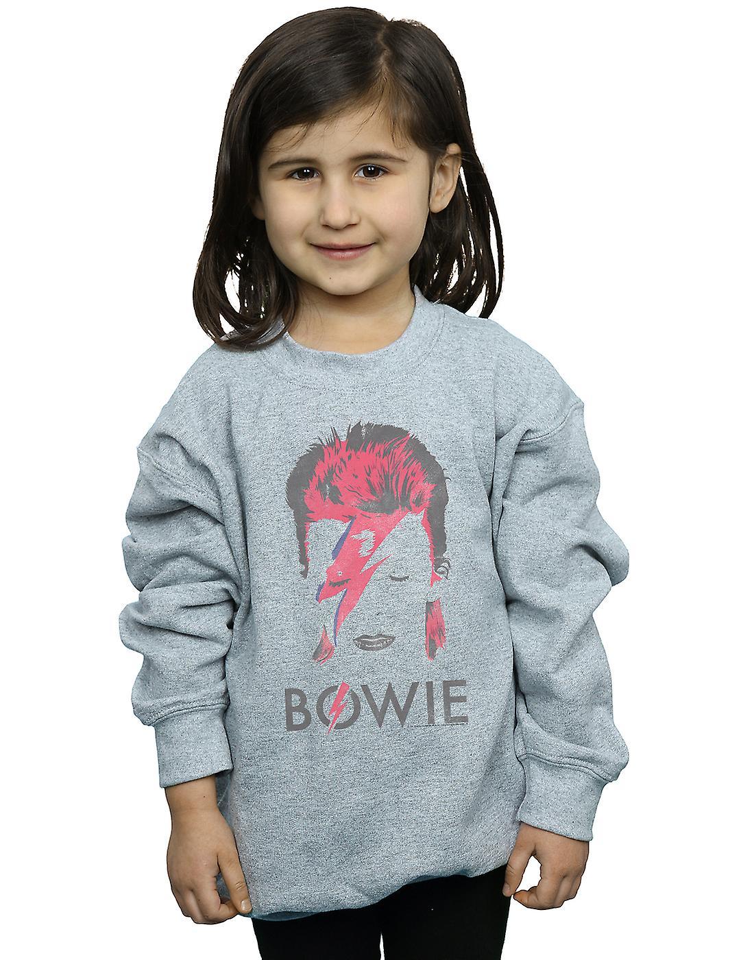 David Bowie Girls Aladdin Sane Distressed Sweatshirt