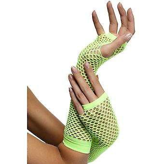 Smiffy's Fishnet Gloves Neon Green
