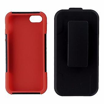 5 pack - Ventev Fusionpro funda caso Combo para iPhone 5/5s/SE-negro/rojo