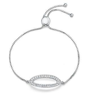 Oliver Weber armband ovaal Rhodium Crystal