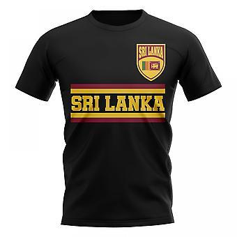 Sri Lanka Core Football pays T-Shirt (Black)