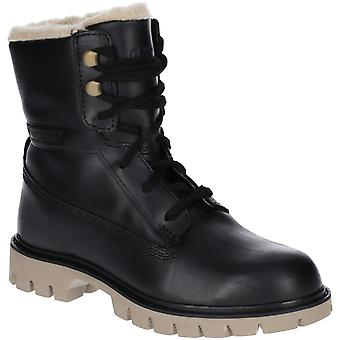 Caterpillar Womens Basis Fur Leather Lightweight Ankle Boots