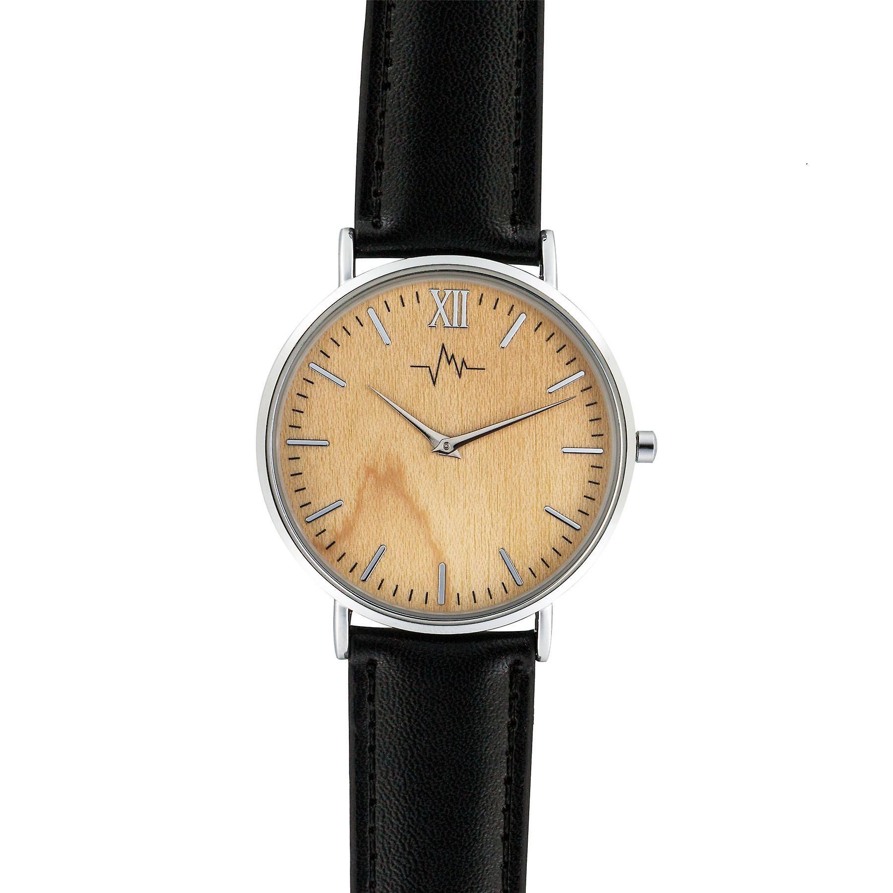 Andreas Osten dames or Womens lunette cuir noir Wrist Watch A0-171