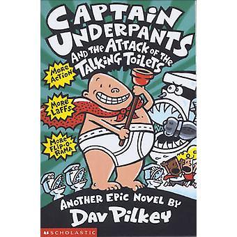キャプテン ・ アンダー パンツと Dav Pilke で話してトイレの攻撃