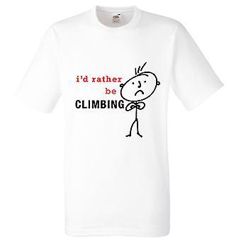 Miesten I pikemminkin kiipeily valkoinen t-paita
