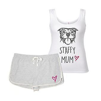 Staffy mamá pijamas