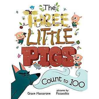 Tre små grisar räkningen till 100