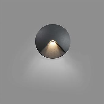 Faro - Uve Dark Grey LED Outdoor Recessed Wall Light FARO70397