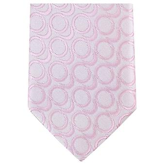 Knightsbridge Neckwear Abstract Skinny Polyester Tie - Light Pink