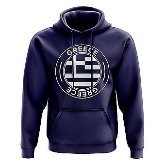Griechenland Fußball Badge Hoodie (Navy)