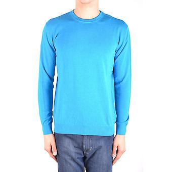 Altea Ezbc048102 Men's Light Blu/green Cotton Sweater
