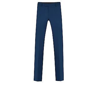 Dobell Mens ljusa blå kostym byxor skräddarsydd passform