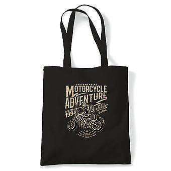 Motorcycle Adventure.  Off road Trick Bike -  Tote - Gift