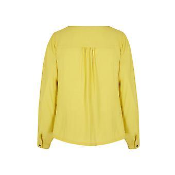 Yumi Womens/Ladies Rose Gold Zip Long Sleeve Blouse