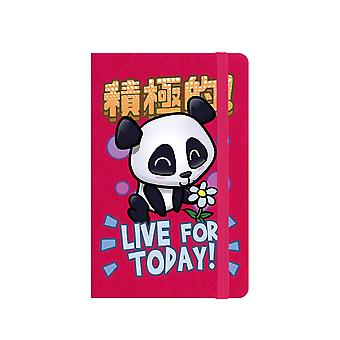 Handa Panda Live For Today A6 Hard Cover Notebook