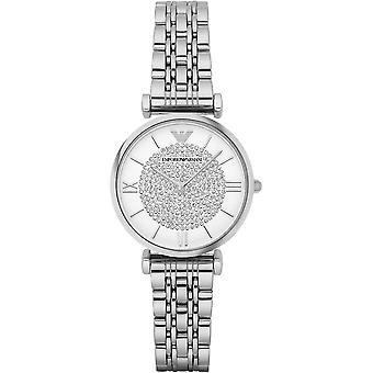 Armani Women's Ar1925 Steel Bracelet Silver-tone Dial Watch