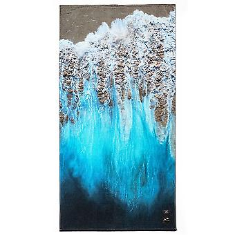 Slowtide Painted Sand Beach Towel in Blue