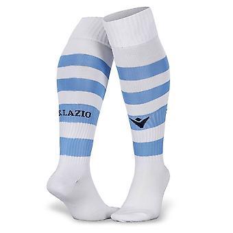 2019-2020 Lazio hem macron strumpor (vit)