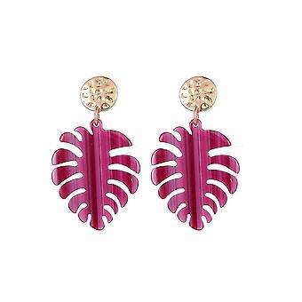 Jewelcity Sunkissed Womens/Ladies Exotic Leaf Earrings
