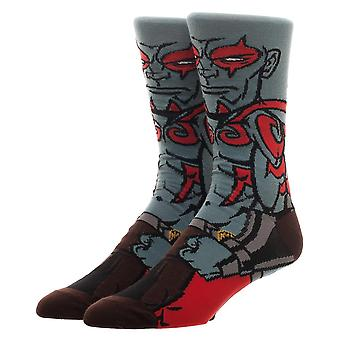 Crew Socks - Guardians of the Galaxy - Drax 360 Character New Licensed cr6a3kggc