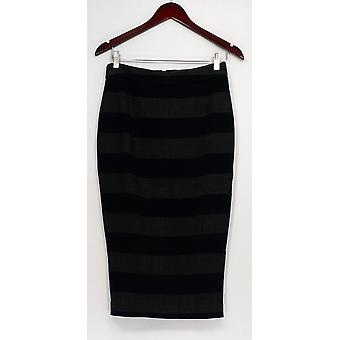G.I.L.I. got it love it Skirt Stretch Twill Striped Pencil Style Black A268271