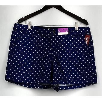 Merona Shorts Printed Zipper & Button Closure w/ Pockets Blue Womens