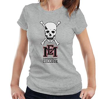 East Mississippi Community College Dark Skull Logo Women's T-Shirt