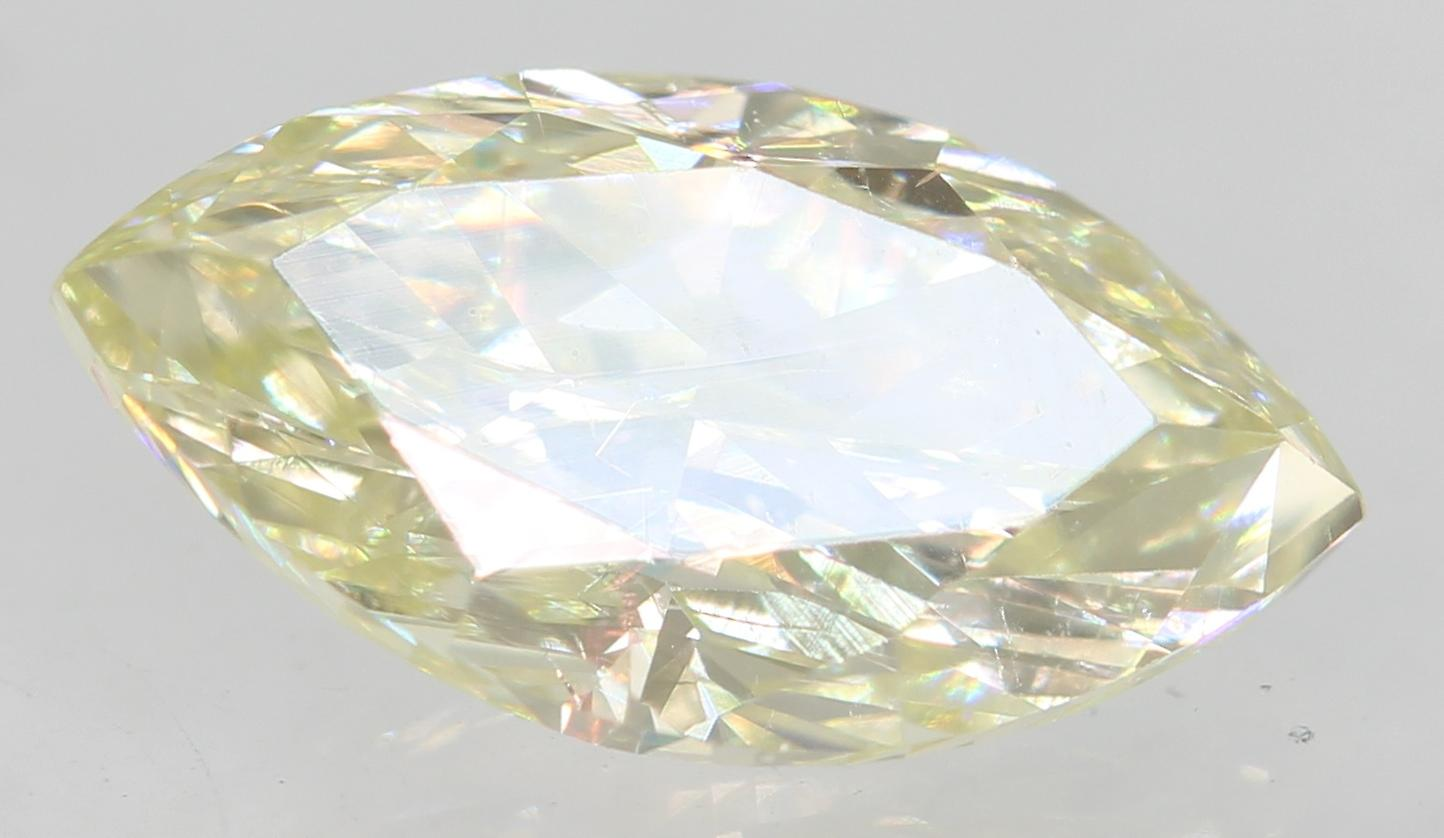 Certified 0.71 Carat J VVS2 Marquise Enhanced Natural Loose Diamond 8.49x4.59mm