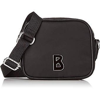 Davos Marta kanto laukku Xsvz-mustat naisten olka laukut (Schwarz (Black)) 7,0 x 15,0 x 17,0 cm (B x H T)