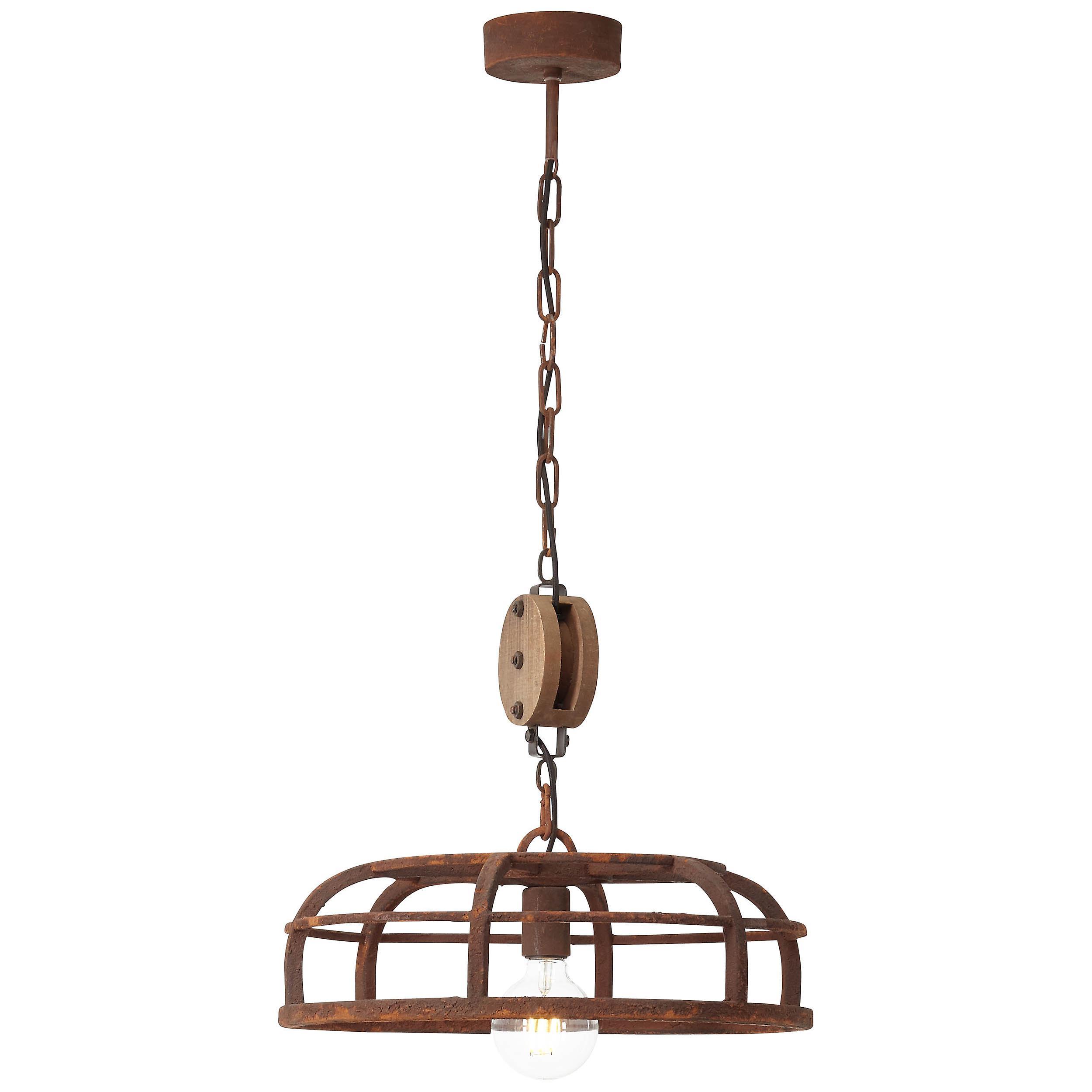 Brilliant Lampe Middle Pendelleuchte 47cm schwarz-rost-braun/gewischt