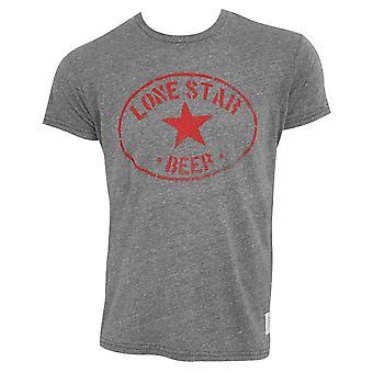 Lone Star Retro Brand Men's Gray Circle Logo Tee Shirt