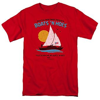 Step Brothers Boats and Hoes Men's Red T-Shirt