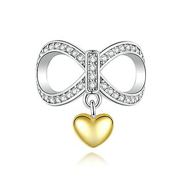 Sterling silver charm Infinity love