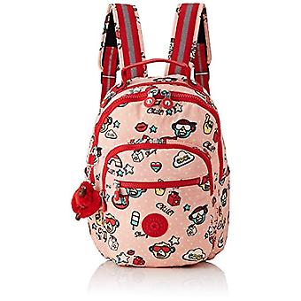 Kipling SEOUL GO S Children's backpack - 35 cm - 14 liters - Multicolor (Monkey Play)