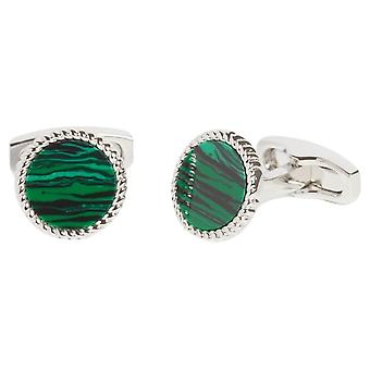 Simon Carter Malachite Rope Edge Cufflinks - Green