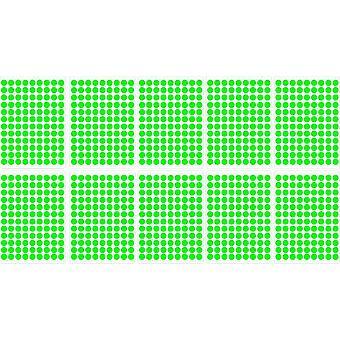 Lot tarrat 1180 kierrosta vihreä kirkas 1 cm scrapbooking kortti