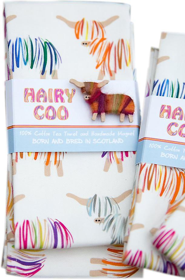 Hairy Coo Tea Towel
