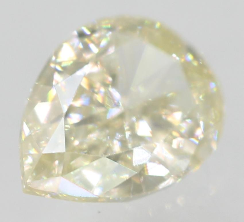 Certified 0.35 Carat J VVS1 Pear Shape Enhanced Natural Loose Diamond 5.54x4.03m