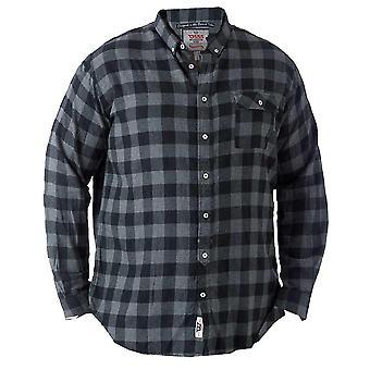 Lawton bărbați ' s cămașă cu mânecă lungă gri cu negru