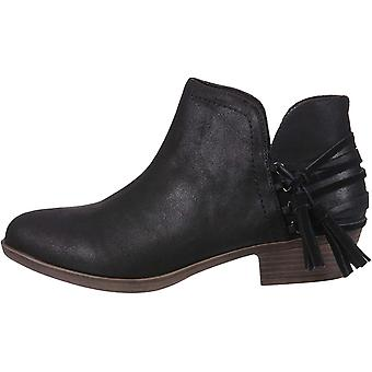 Rampage Women's Tiaan Cut Out Ankle Bootie with Decorative Side Tassle Boot
