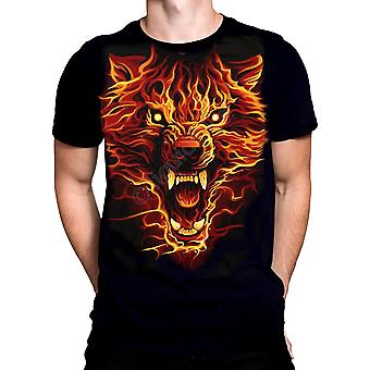 Liquid blue - fire wolf - t-shirt
